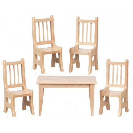 Table w/4 Chairs/oak