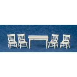 Table/chairs/set/5/wht
