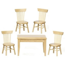 Table/chair Set/5/oak