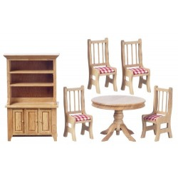 Dining Set/6/rd.ck/oak