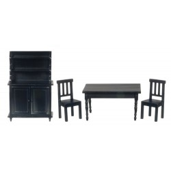 Benson Dining Set/4/black