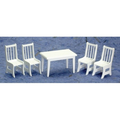 Table w/4 Chairs/white/cb