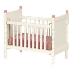Crib/white w/pink Trim
