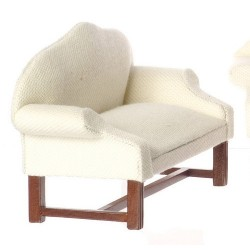 White Settee/Walnut