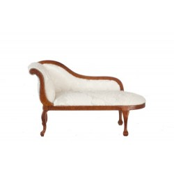 Queen Anne Chaise Lounge/Walnut