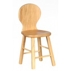 Stool w/back/oak