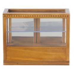 Rect.display Case/Walnut