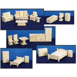 5 Room Sets Furniture/20pcs