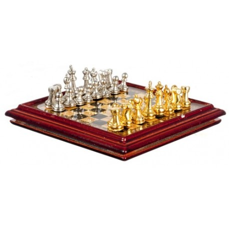 Metal Chess Set And Board