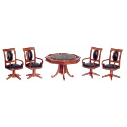 Gaming Table w/4 Chairs/w