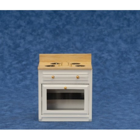 Modern Stove/white/oak