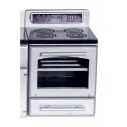 Silver Stove w/black Top
