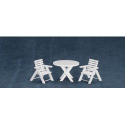 3pc Table & Chairs/wht/cb