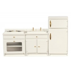 3pc White Appliance Set