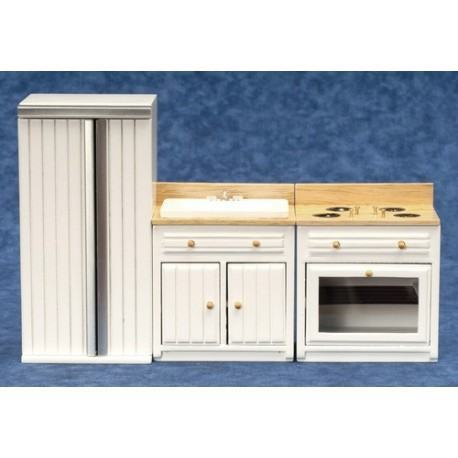 3pc Appliance Set/wh/oak