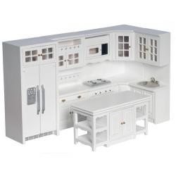 kitchen set8whitecb - Dollhouse Kitchen