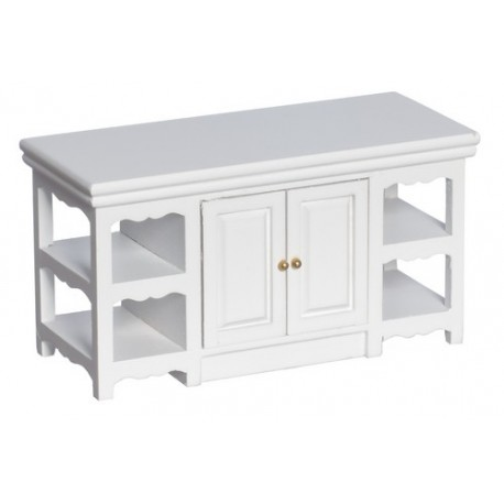 Center Island White Dollhouse Kitchen Cabinets Superior