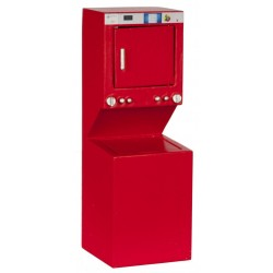 Stacked Washer/dryer/red