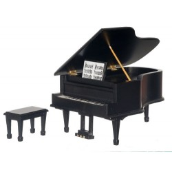 Piano w/bench/black/cb