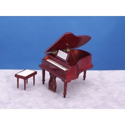 Piano w/bench/Mahogany/cb