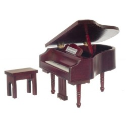 Piano w/bench/Mahogany