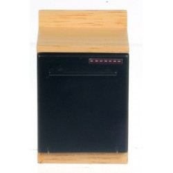 Black Dishwasher/oak Cab