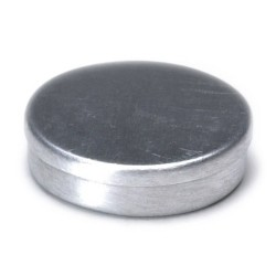Round Cookie Tin/silver