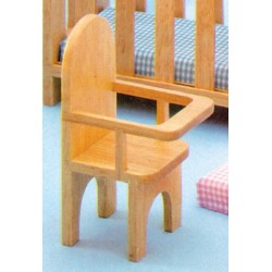 Playstuff High Chair/oak