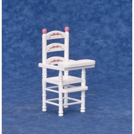 High Chair/white w/rib