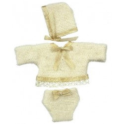 Baby Clothes w/hat/beige