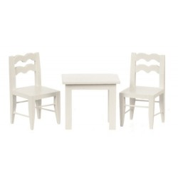 Child's Table/2 Chrs/whit