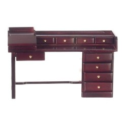 Nine Drawer Desk/Mahogany