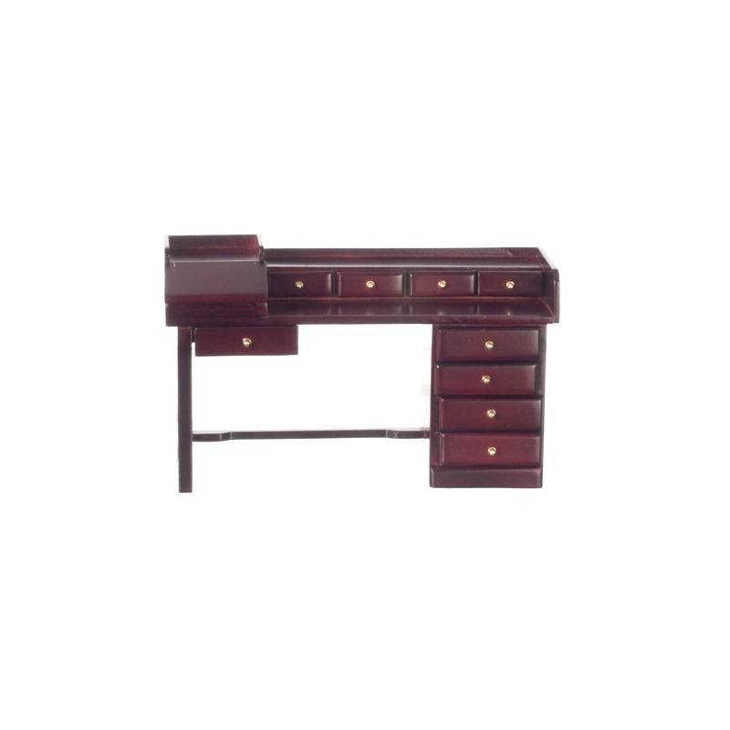 nine drawer desk mahogany dollhouse office desks
