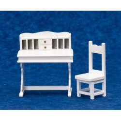 Desk & Chair Set/2/white