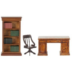 Barrister Desk Set/3/waln