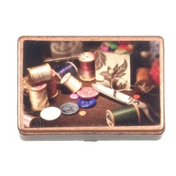 Ant.sewing Box/w/access.