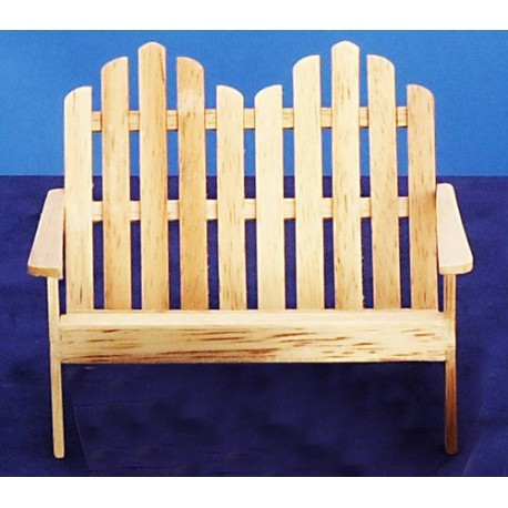 Adirondack Dbl Chair/oak