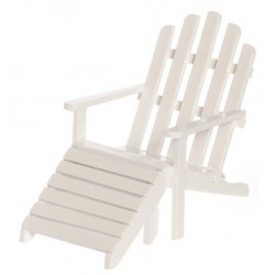 Adirondack Chair/stool/wh