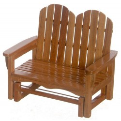 Double Glider Chair/pecan