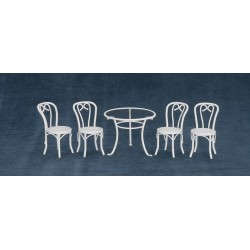5pc Patio Table & Chairs