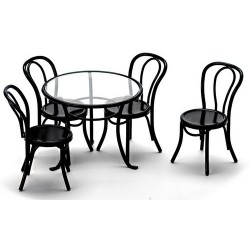 Patio Table/4 Chairs/blac
