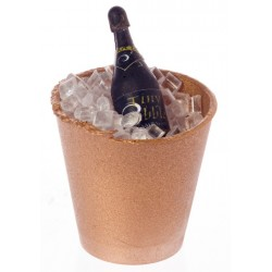 Champagne In Brass Bucket