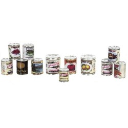 Food Cans Set/12/assorted
