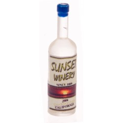 Sunset White Wine Bottles