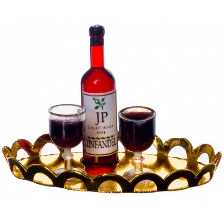 Red Wine/2 Glasses/tray