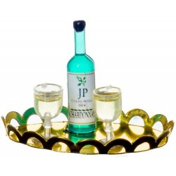 White Wine/2 Glasses/tray