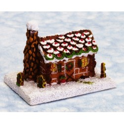1in Gingerbread Log Cabin