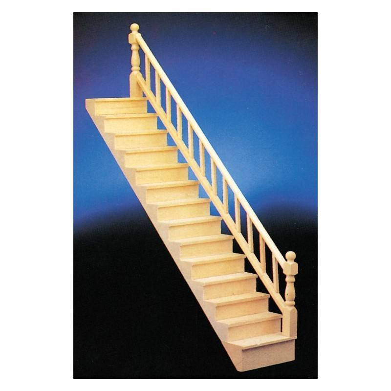 Straight Staircase W Rail Dollhouse Stairs Superior