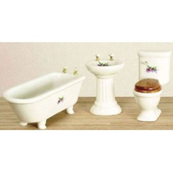 Bathroom Set  3Pc  Decal
