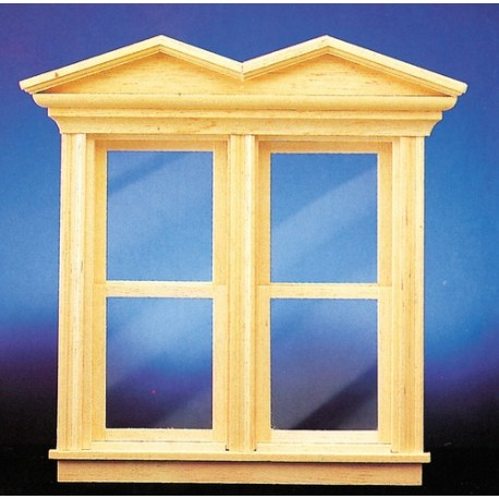 Victorian Hooded Nonworking Double Hung Window